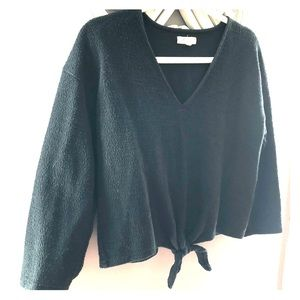 Madewell Tie-Front Cropped Top